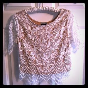 Crop Lace Express Top